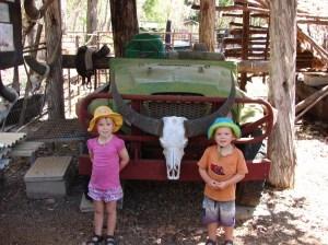 Kids with Buffalo jeep